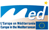 Logo Programme Med, Europe in the Mediterranean